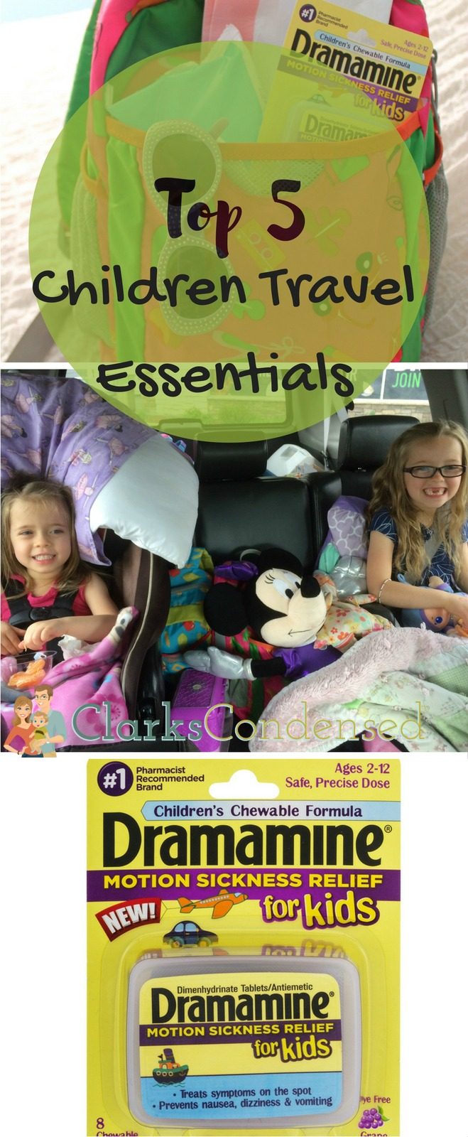 Do you travel with children? Check out our list of travel must-haves! #AdventuresInMotion #IC #ad via @clarkscondensed