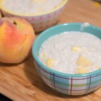 Peaches and Cream Rice Pudding