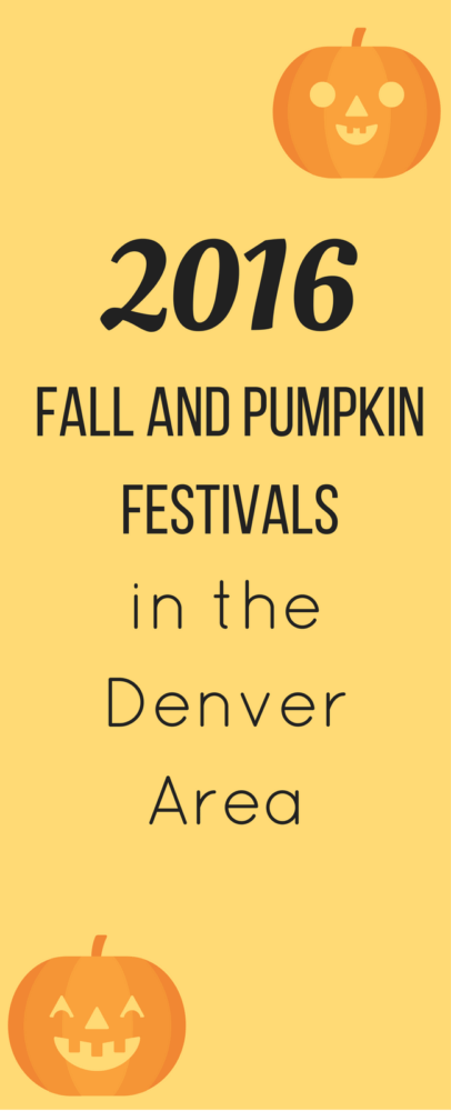 2016 Fall Festivals in Denver for Families