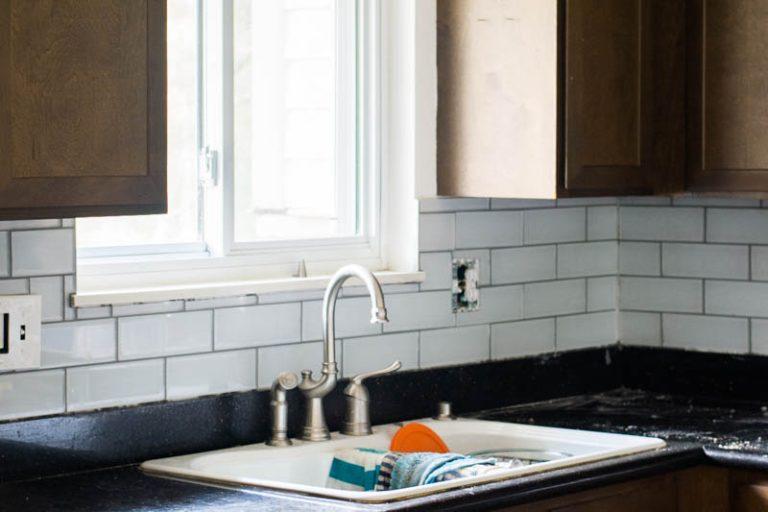 Backsplash over existing tile