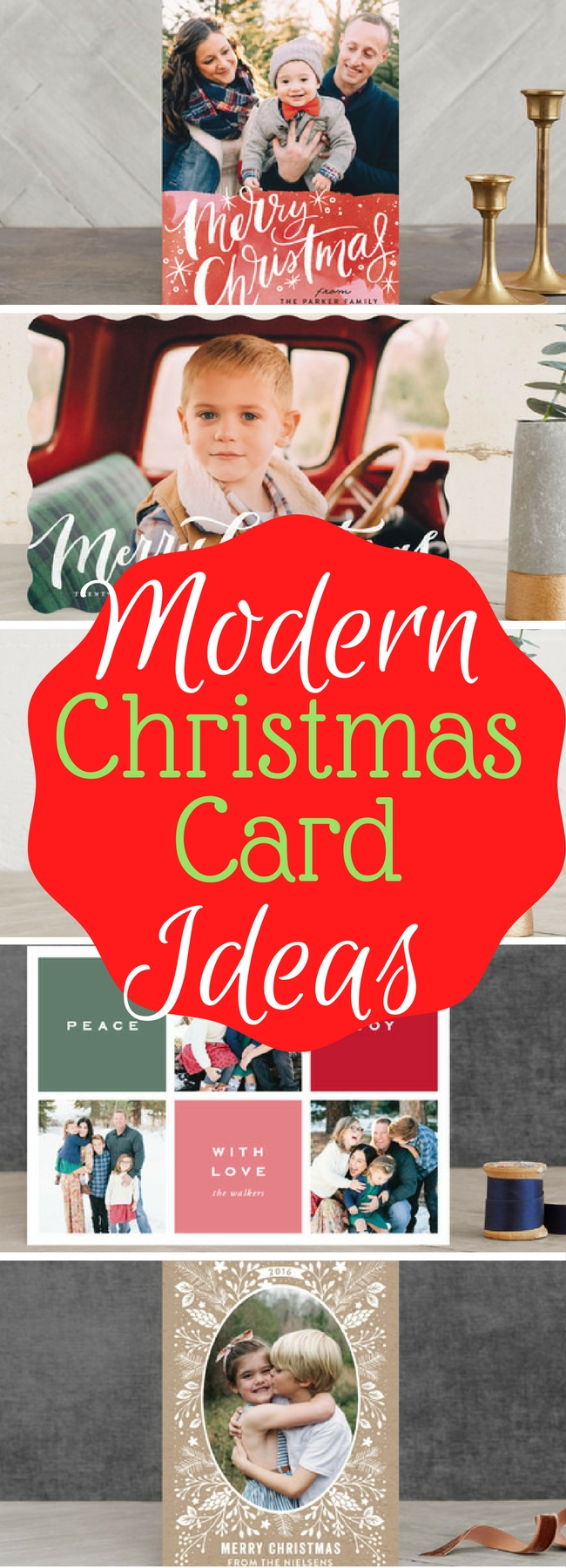 Here is a fun collection of Modern Christmas Card ideas for this year!