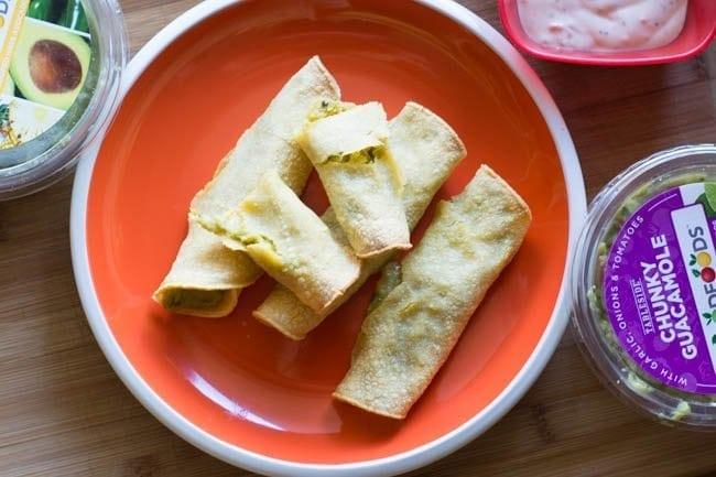 Baked Guacamole Taquitos Recipe