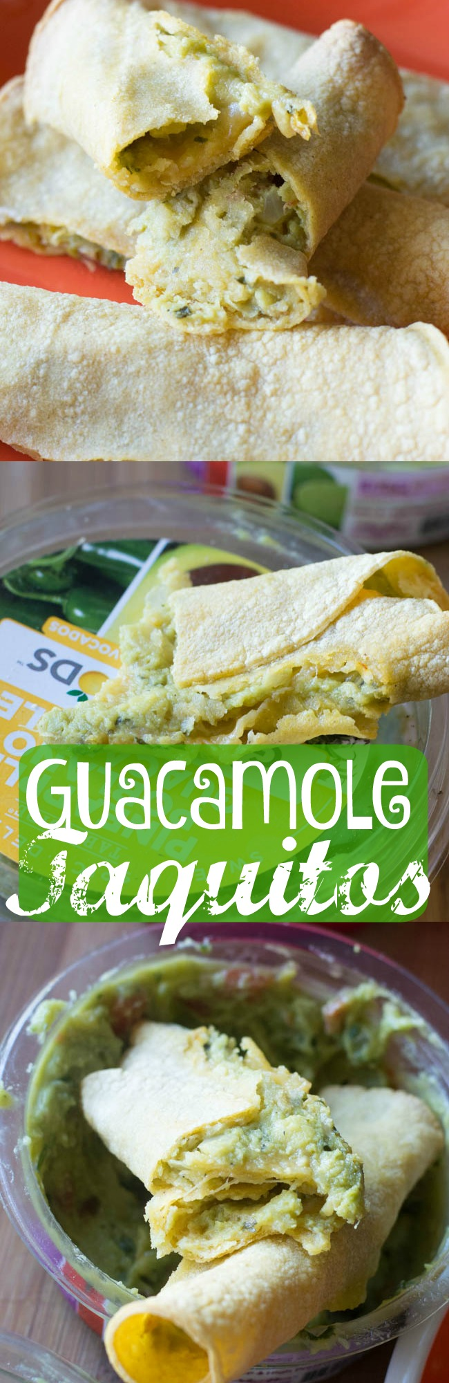 These super easy baked guacamole taquitos are a DELICIOUS appetizer, lunch, or after school snack. They only take three ingredients, and EVERYONE loves them!
