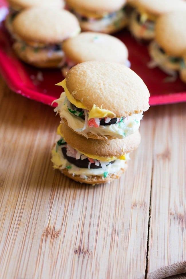 Easy Hamburger Cookies (Video Tutorial)