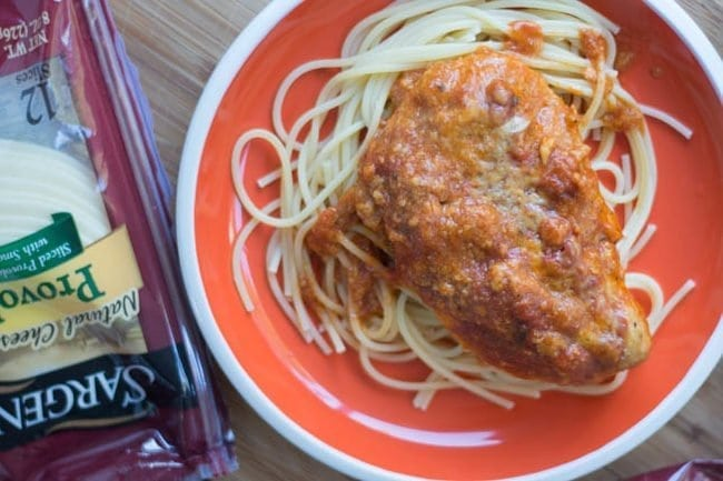 Slow Cooker Three Cheese Italian Chicken