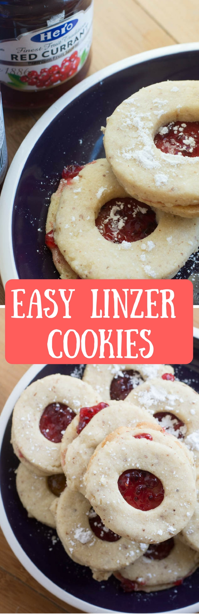 This is the best linzer cookie recipe! This is an easy recipe made with almonds and filled with a delicate layer of jam. It's the perfect holiday cookie recipe that will get everyone baking this year!