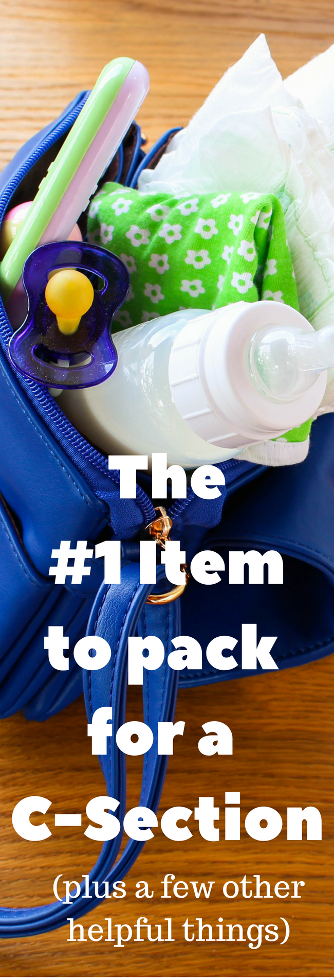Packing for your scheduled c-section hospital bag? This is the #1 item you'll need for c-section recovery, as well as a checklist of other items.