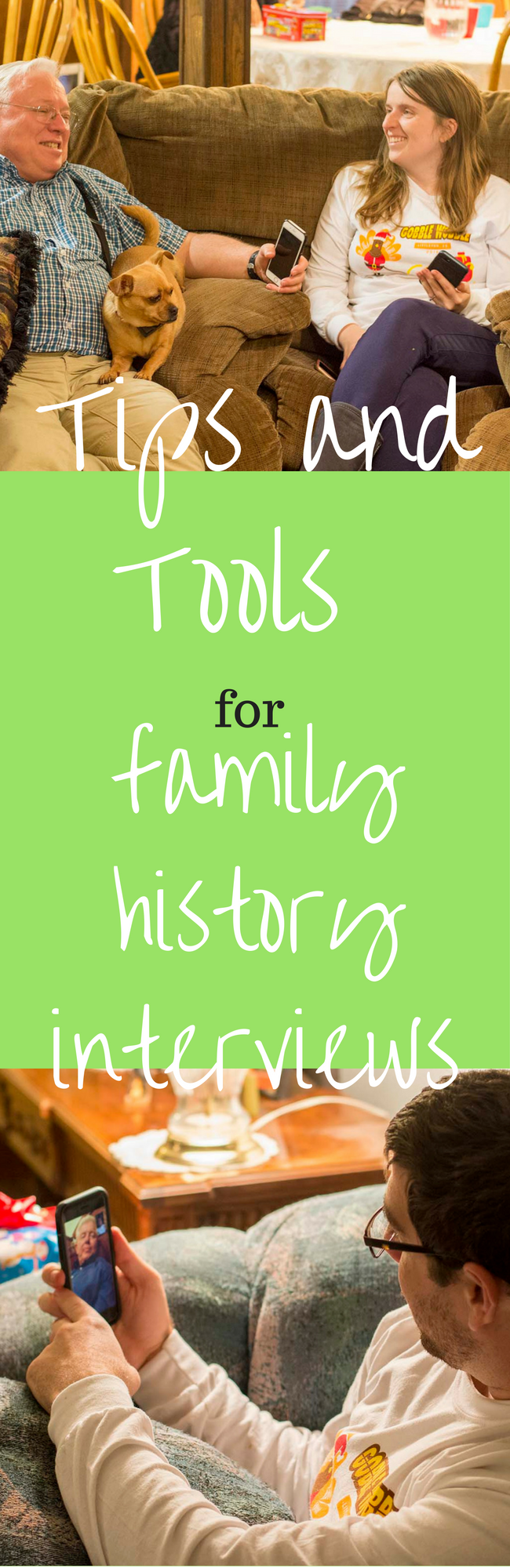 If you are looking for some family history ideas, read on! Organizing family history interviews with family members is a great way to preserve their Genealogy. It's a great project for adults and youth to participate in.