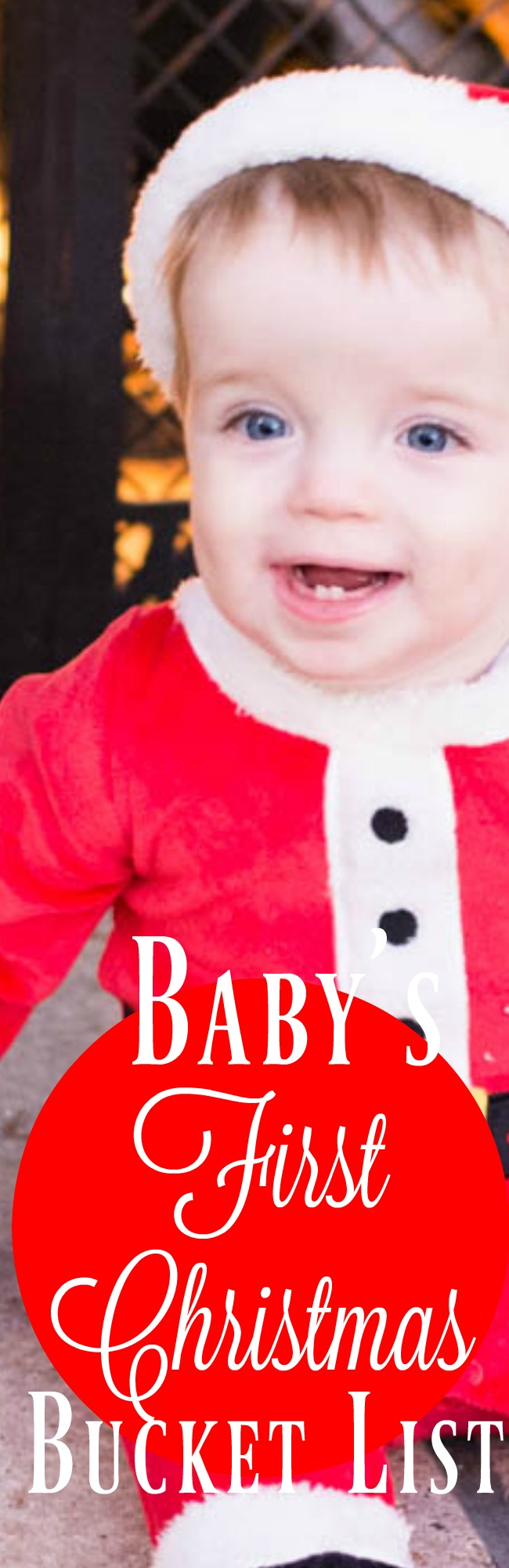 Idea's for baby's first christmas - baby's first Christmas bucketlist via @clarkscondensed