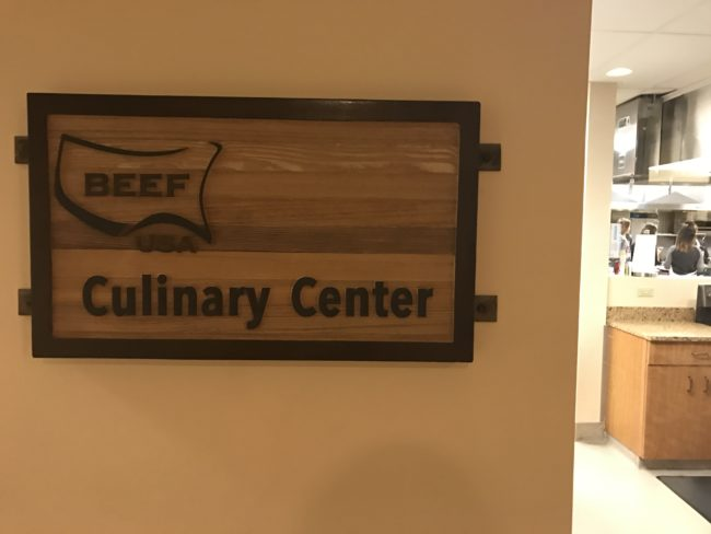 beef culinary center sign
