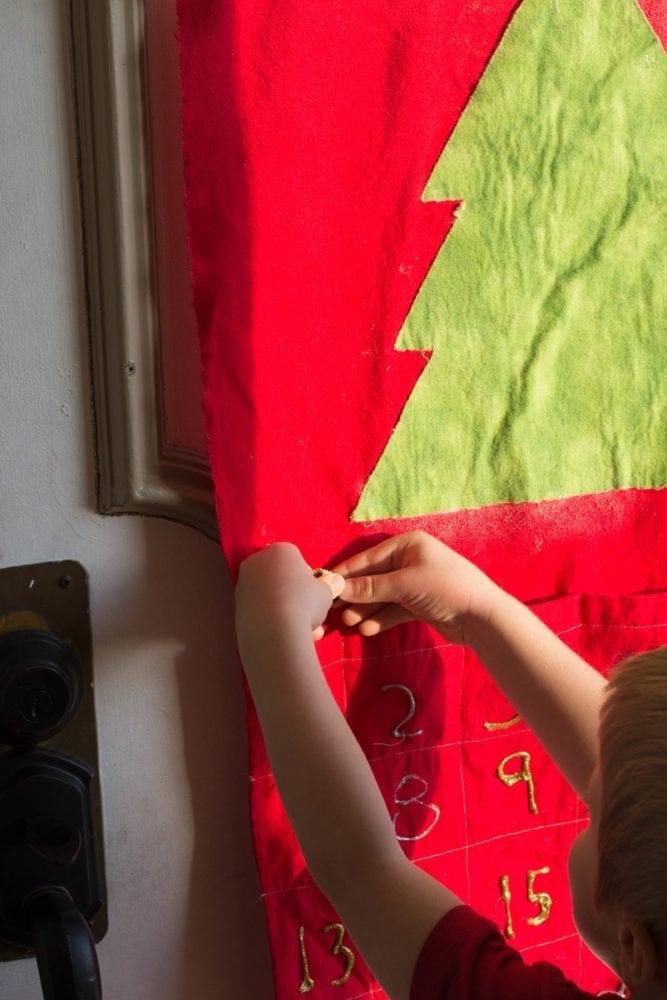 Traditional Flannel Advent Calendar