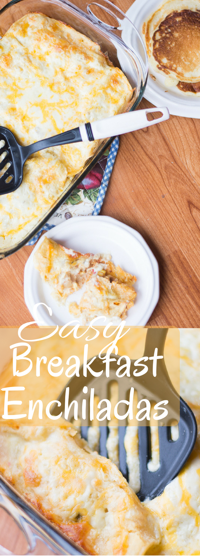 These easy breakfast enchiladas are perfect for making the night before for a hearty and delicious breakfast! via @clarkscondensed