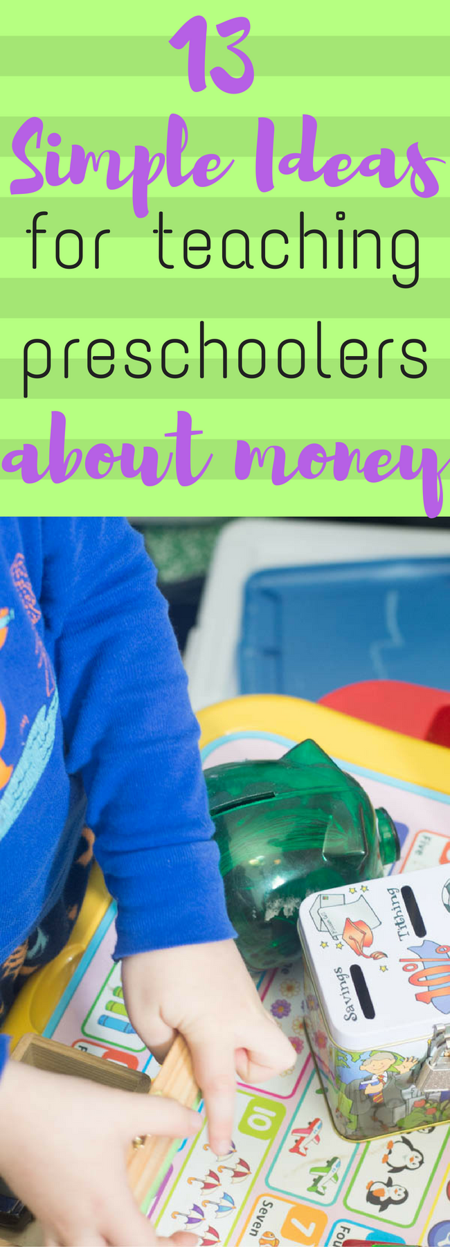 Preschool learning / preschool math / teach preschooler about money / money management /money tips / frugal living / life lessons / preschool