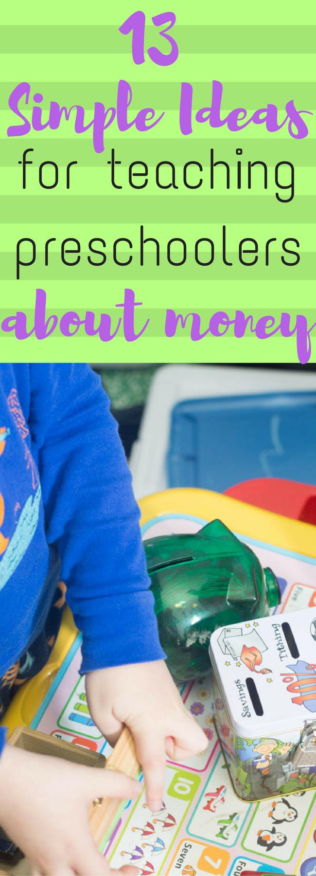 Preschool learning / preschool math / teach preschooler about money / money management /money tips / frugal living / life lessons / preschool via @clarkscondensed
