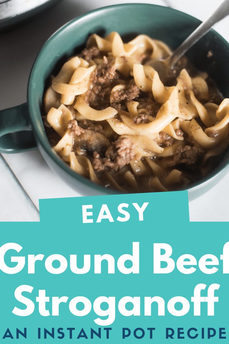 Instant Pot Beef Stroganoff / Easy Beef Stroganoff / Beef Stroganoff / instant pot recipes /instant pot / instant pot recipes /pressure cooking / instant pot beef recipes via @clarkscondensed