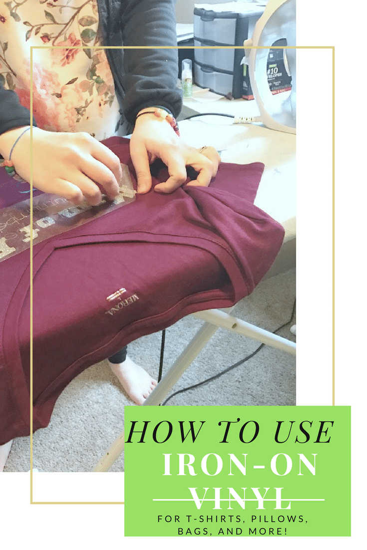 How to Use Iron On Vinyl with Cricut