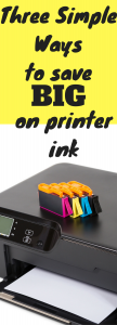 Three Simple Ways to Save BIG on Printer Ink
