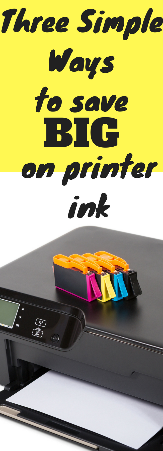 Ways to save on printer ink / save money / college tips / printer / printing paper / deals / saving money / frugal living