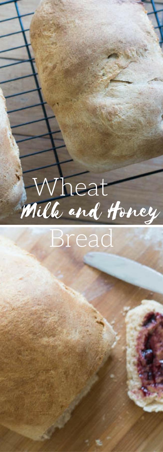 Wheat Bread / Homemade Wheat Bread / Milk and Honey Bread / Wheat Milk and Honey Bread / Homemade Bread / Bread Making via @clarkscondensed