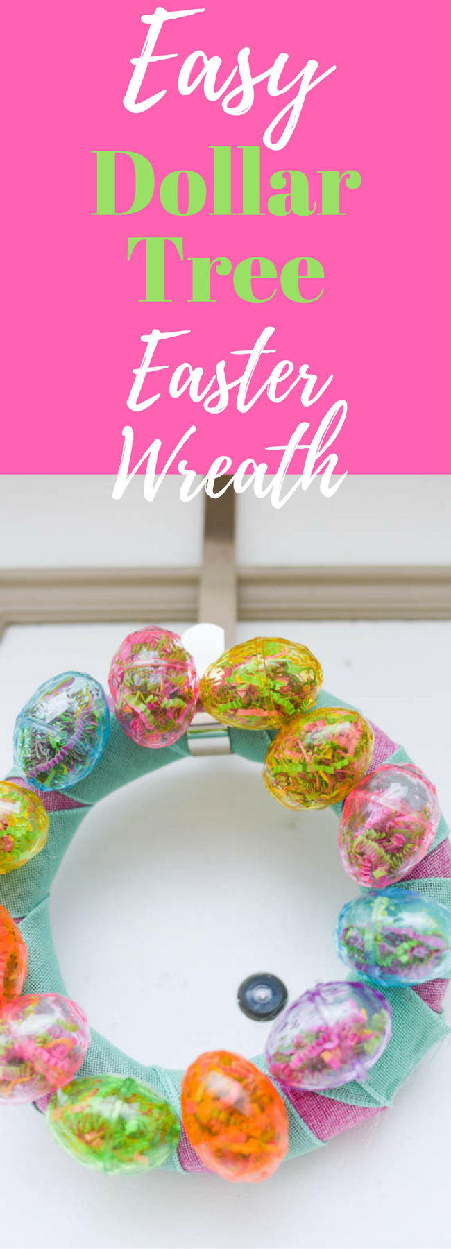 Dollar Tree Crafts / Dollar Store Crafts / Dollar Tree Wreath / Dollar Tree Easter Crafts / Dollar Tree Ideas / Easter Crafts / Easy Easter Crafts / Easter Wreath / Easter Decorations / Super Saturday /