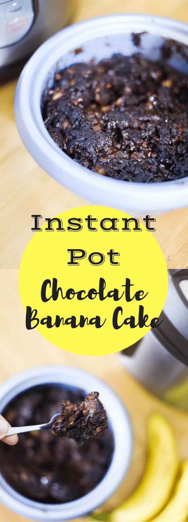 Instant Pot Chocolate Banana Cake / Instant Pot Recipes / Instant Pot Desserts / Instant Pot Quick Breads / Instant Pot Ideas