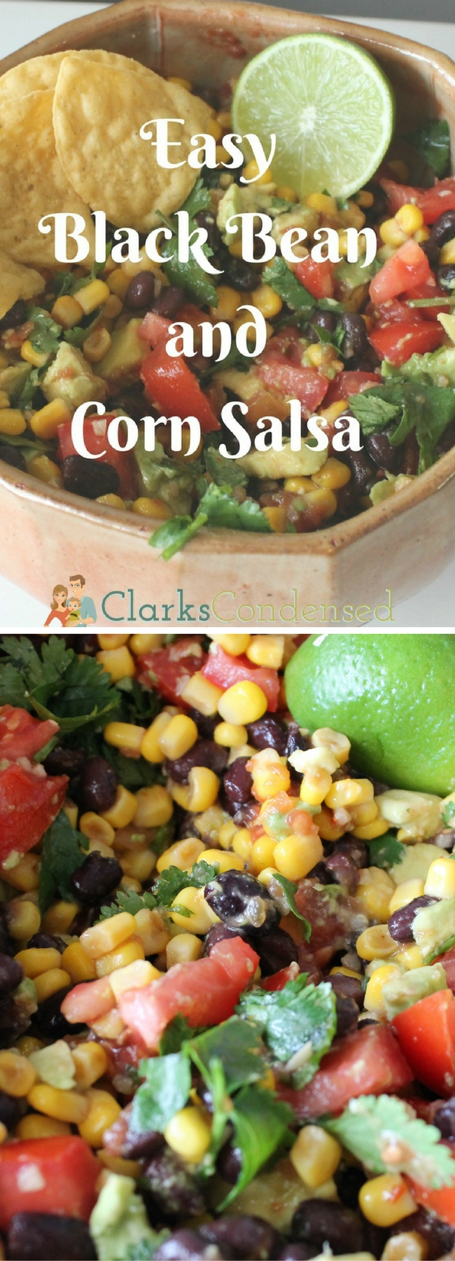 Easy Black Bean and Corn Salsa via @clarkscondensed