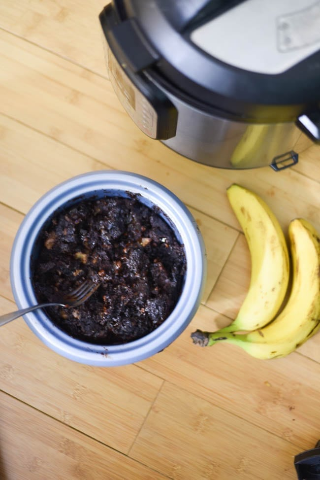 Instant Pot Chocolate Banana Cake