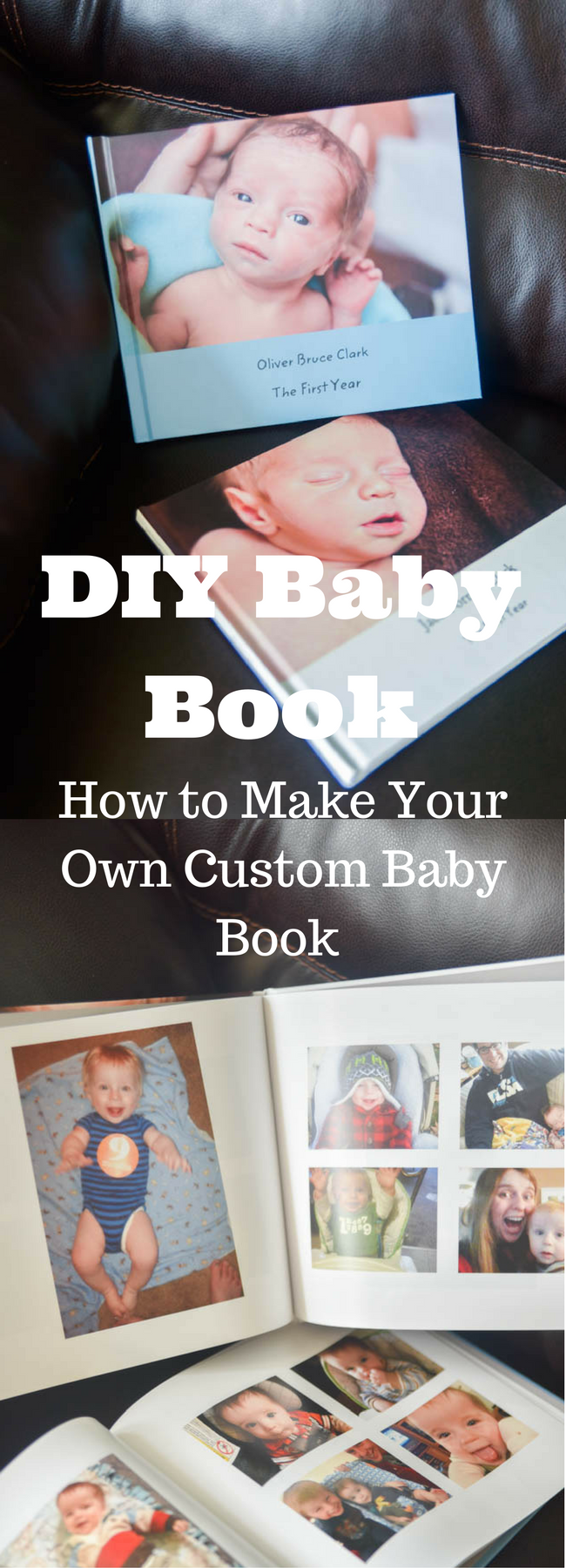 DIY Baby Book / Baby Book Ideas / DIY Baby Book Ideas / Baby's First Year / Make Your own Baby Book / Baby Book Page Ideas