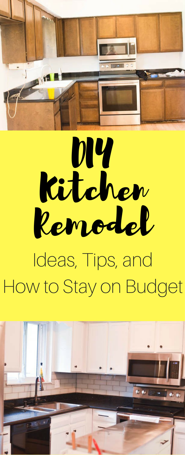 DIY Kitchen Remodel Ideas / DIY Kitchen Remodel / Kitchen Remodel / DIY Kitchen Renovation / Budget Remodel / Budget Renovation / Small Kitchen / Small Kitchen Ideas