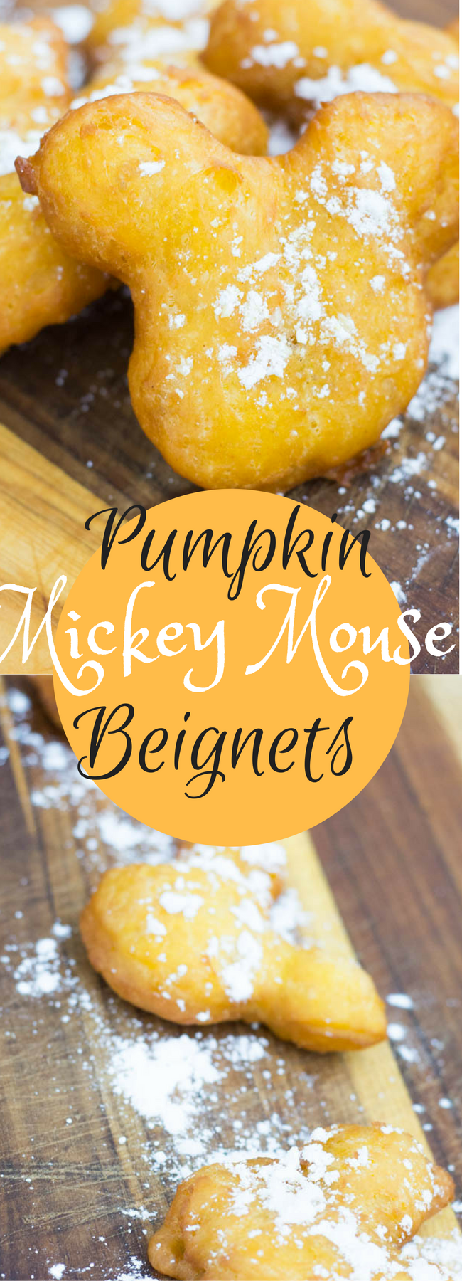 Mickey Mouse Beignets / Copycat Disneyland Beignets / Pumpkin Beginets / Pumpkin Recipe / Copycat Disneyland Recipes / French Recipes / French Desserts