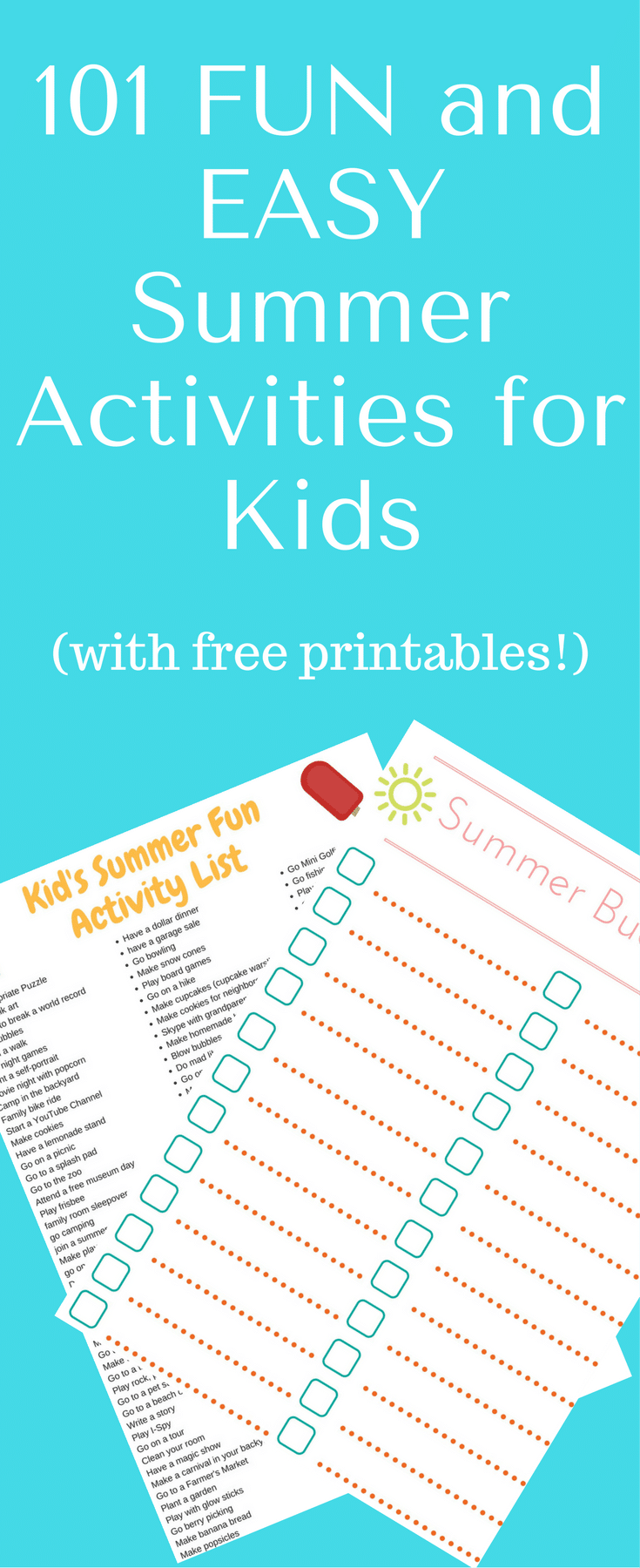 101 easy summer activities for kids