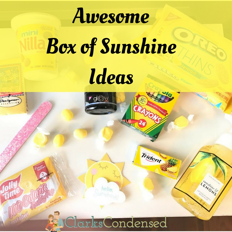 Awesome Box of Sunshine Ideas.
