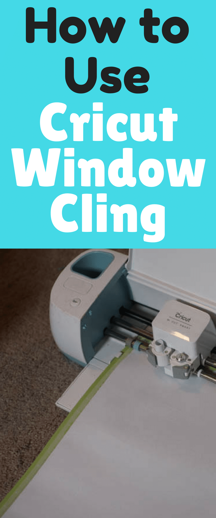 Window Calendar Tutorial With Cricut Window Cling - How to make window decals with cricut