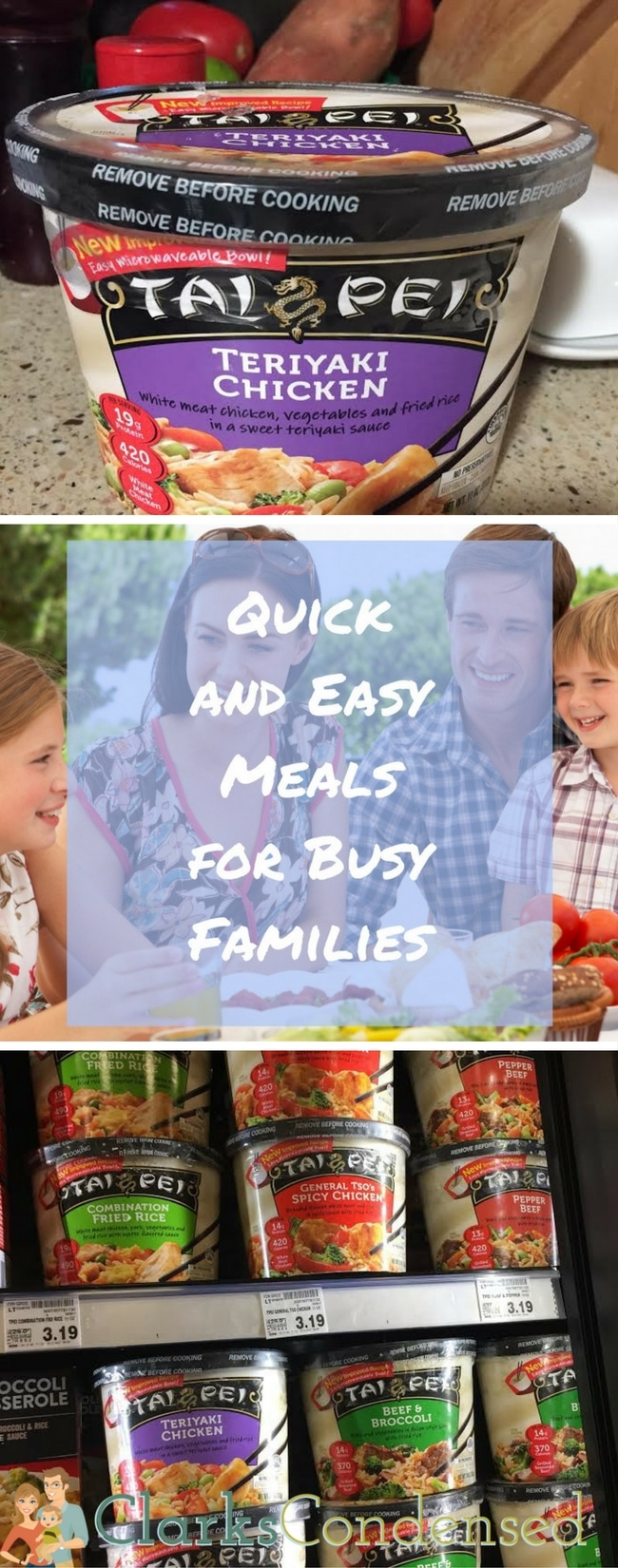 Quick and Easy Meals for Busy Families via @clarkscondensed