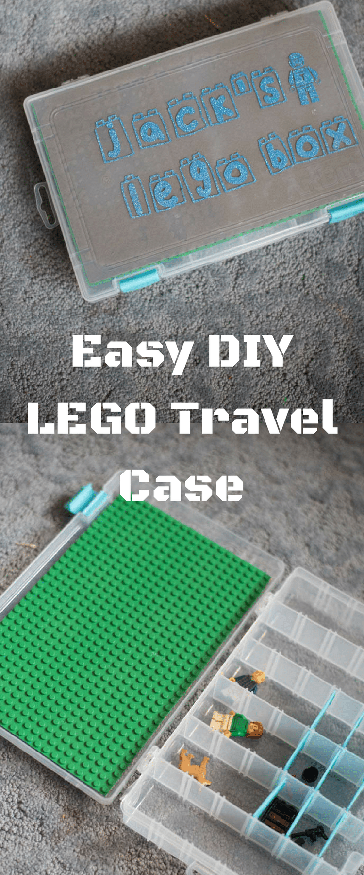 LEGO Storage / LEGO Travel Tray / LEGO Craft / DIY Travel Case / LEGO, LEGO, LEGO / LEGO Ideas