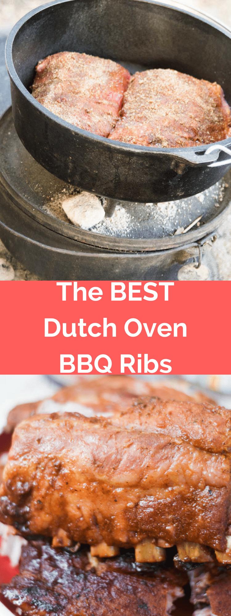 The Best Dutch Oven Ribs Recipe / Dutch Oven Ribs / Dutch Oven Baby Back Ribs / Dutch Oven BBQ Ribs / Dutch Oven Recipes / BBQ Spice Rub / Ribs Recipe / Best Ribs Recipe / Easy Ribs Recipe via @clarkscondensed