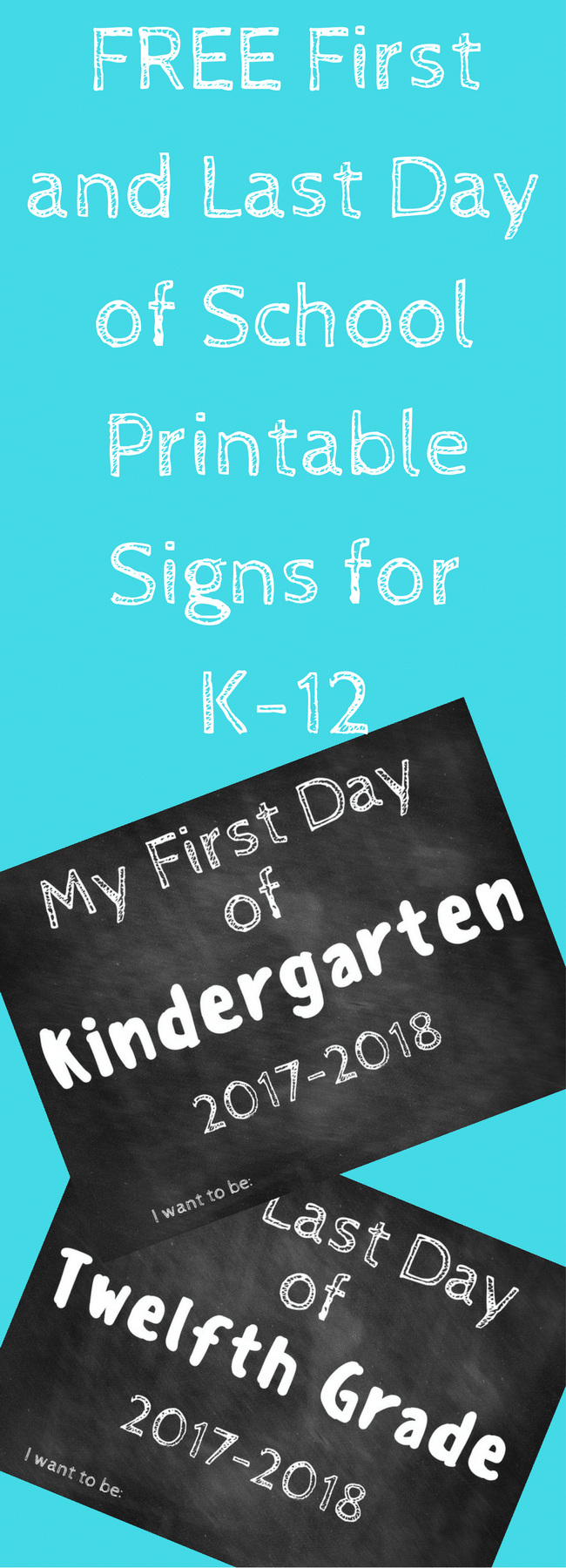 First Day of School Printable Sign / Last Day of School Printable Sign / Back to School / Back to School Printables