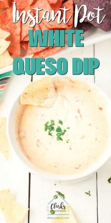 White queso cheese dip