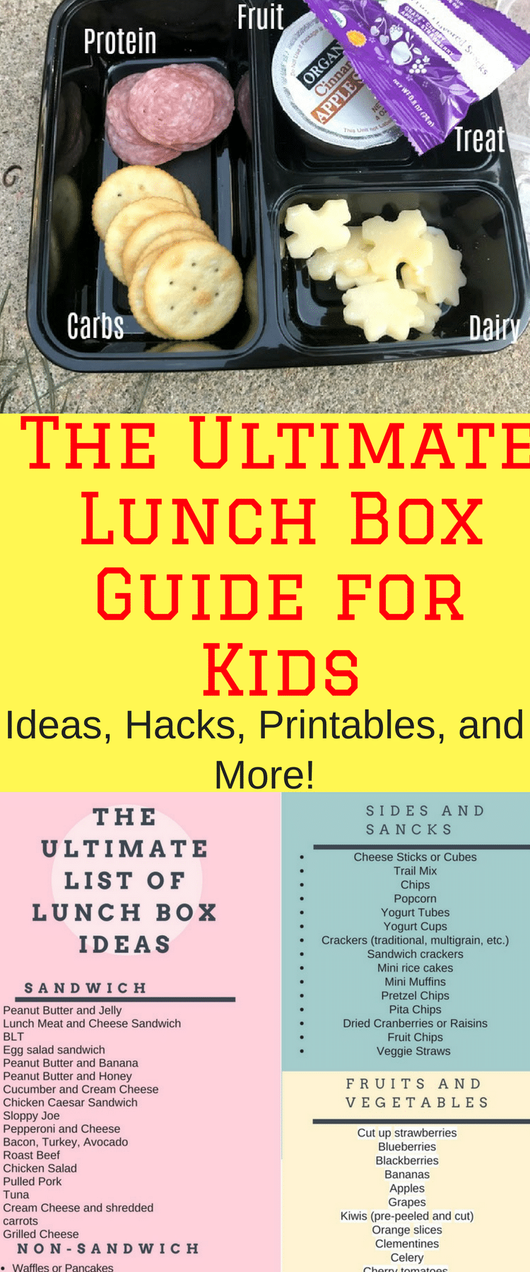 Lunch box ideas / Lunch Box Ideas for Kids / School Lunch / Lunch Ideas / Lunch Ideas for Kids / Kid Lunch Ideas / non sandwich lunch ideas / sandwich ideas / kid lunches