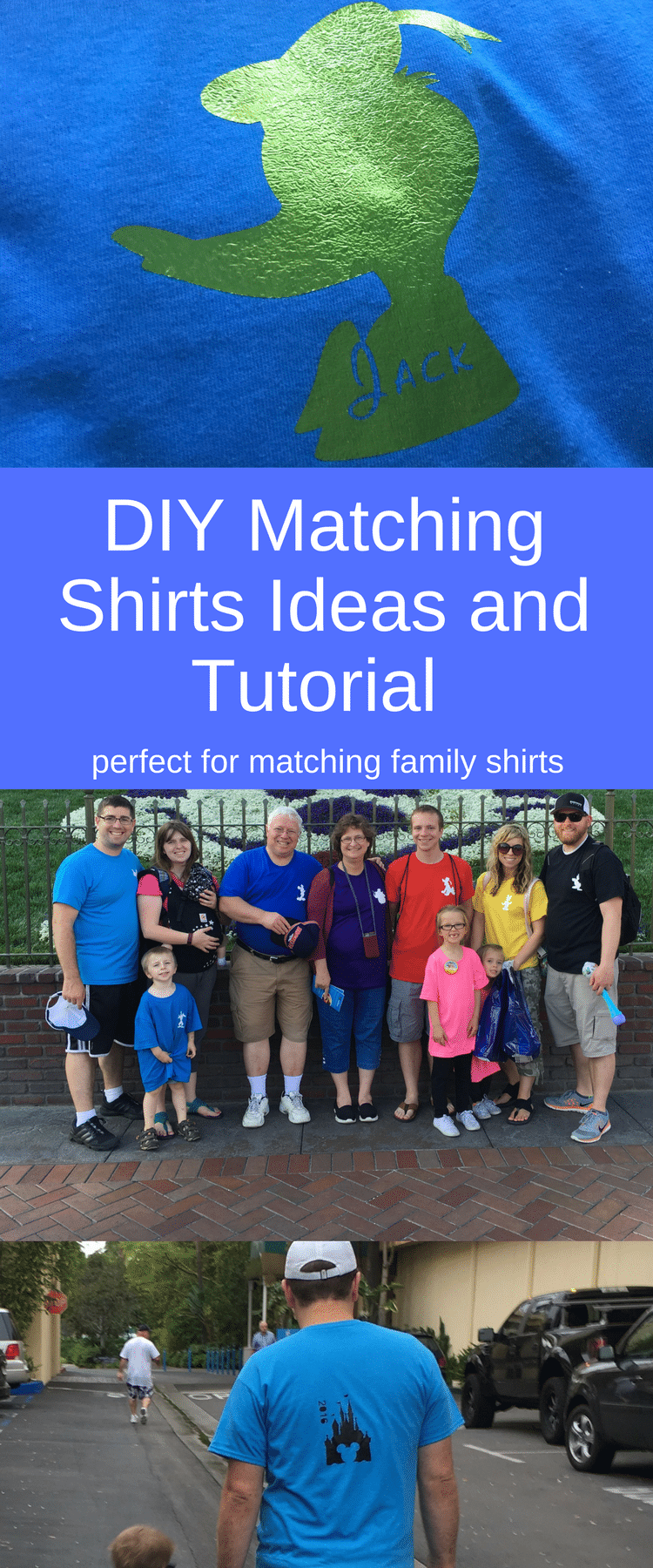 DIY Matching Disneyland Shirt Ideas / Matching Disneyland T-Shirts / Family Disneyland T-shirts / Disneyland Shirts / DIY Disney SHirts via @clarkscondensed