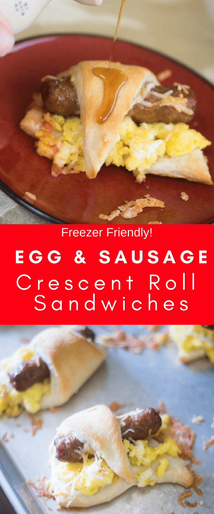 Sausage Breakfast Sandwich / Crescent Roll Recipes / Freezer Breakfast / Freezer Meals / Back to School / Breakfast / Easy Breakfast / #breakfast #sausage #backtoschool #easyrecipe