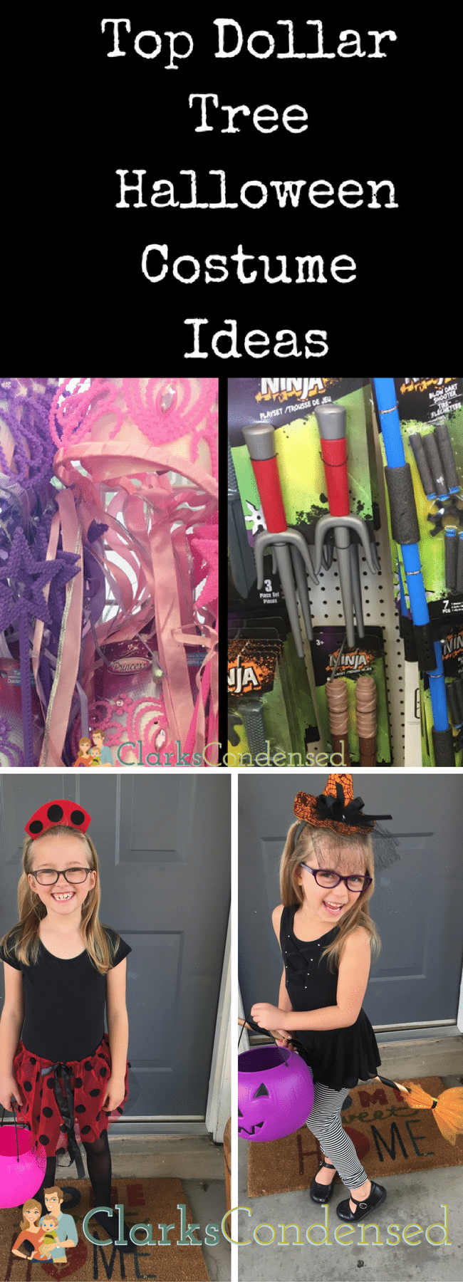 Dollar Tree Halloween Costumes / DIY Halloween Costume Ideas / Easy Halloween Costume Ideas / Halloween / #Halloween #costumeideas #costumesforkids