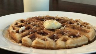 Delicious Toasted Coconut Waffles