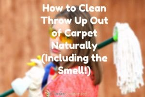 How to Clean Throw Up Out of Carpet Naturally (Including the Smell!)