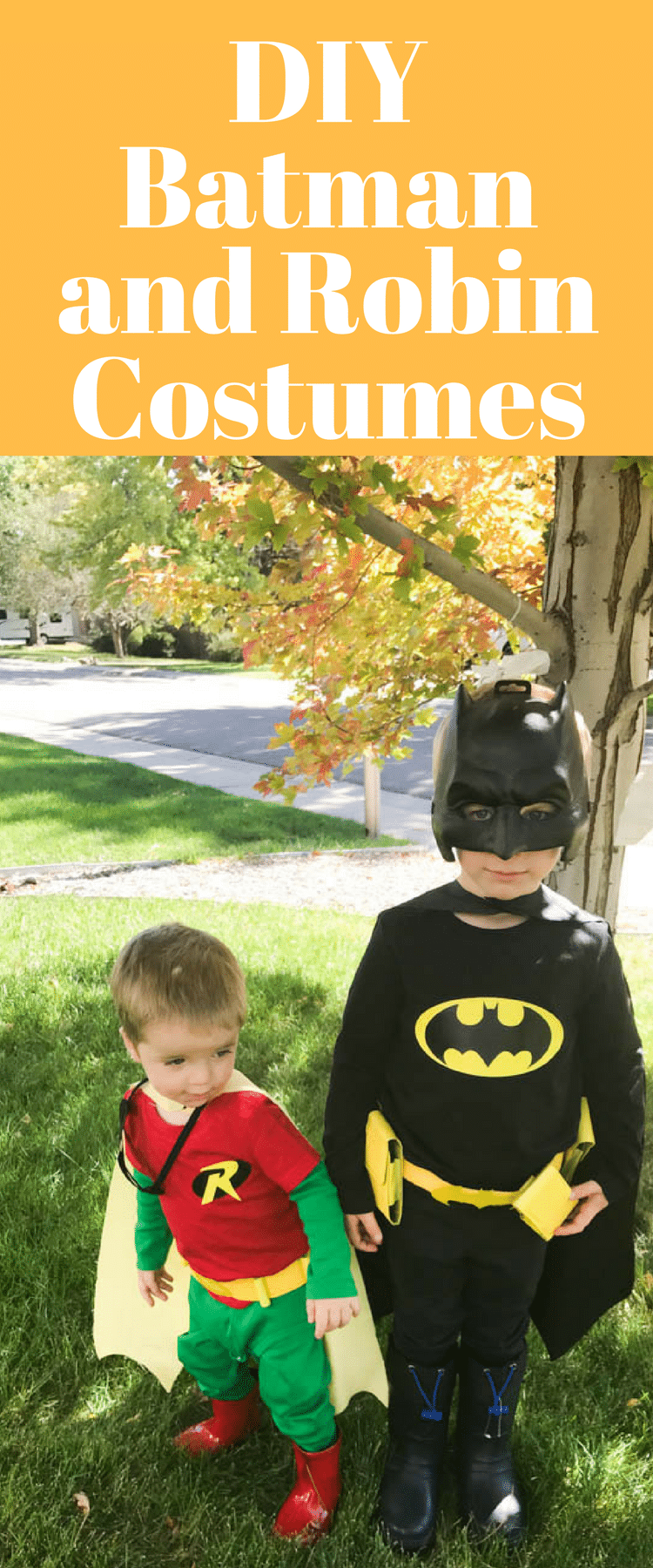 DIY Batman Costume / DIY Robin Costume / Robin Costume for Toddlers / Batman Costume for Kids / DIY Halloween