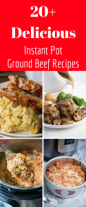 Ground Beef Instant Pot Recipes