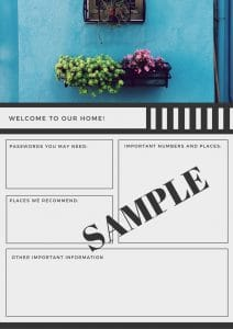 Thoughtful Guest Room Essentials – Free Printable