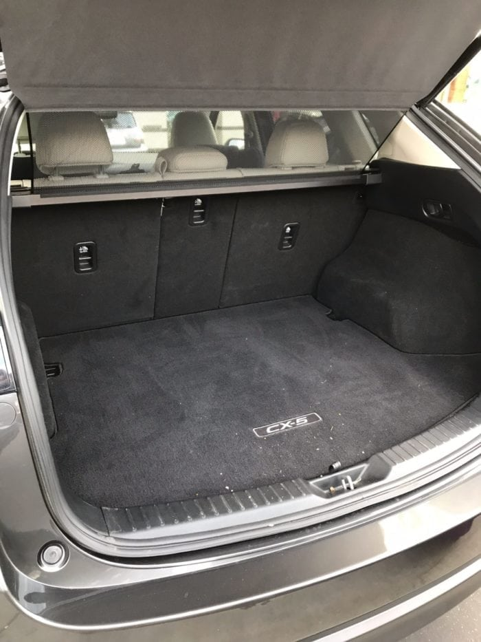 2017 Mazda CX-5 Trunk Space