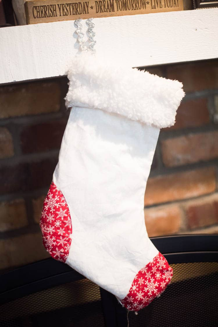 Easy DIY Christmas Stocking