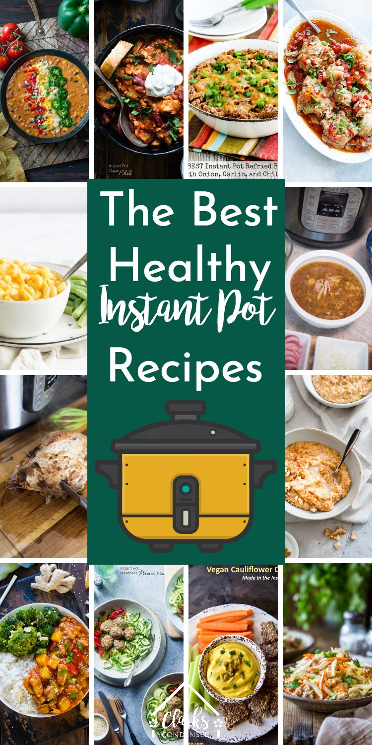 Healthy Instant Pot Recipes / Pressure Cooker Recipes #InstantPot #Vegan #PressureCooker #Soups #Keto #Whole30 #paleo via @clarkscondensed